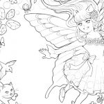 イラスト「エイミーの四季のリース」の線画を描きました。
