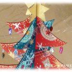 工作・クラフト「クリスマスツリー」を作りました。