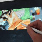 イラスト・絵画「キツネ」の絵を描きました。