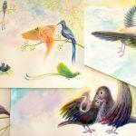 物語性のある絵本のイラストを描く