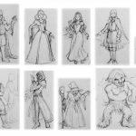西洋ファンタジーのキャラクターを描く