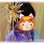 工作・クラフト「花火の髪飾り」を作りました。