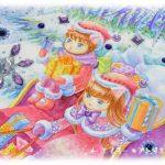 イラスト・絵画「12月のエイミー☆tanzanite」を描きました。