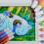 ステンドグラス風の絵が描けるガラス絵の具を比較する