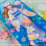 ステンドグラス風アート「浴衣のファッションショー」